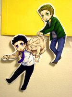 Dean and Cas Paper Children by everlastingwish