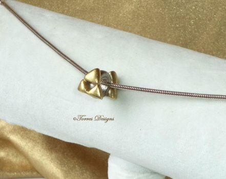 3mm Sterling Silver Charm Triforce LOZ Handmade by TorresDesigns