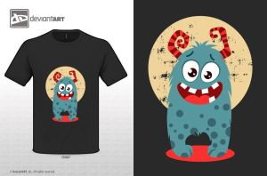 Cute monster t-shirt_02 by gokceguneren