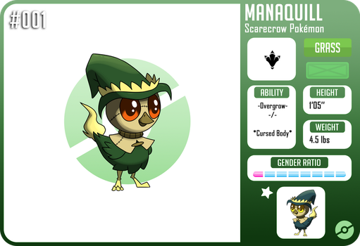 #001 Manaquill :Fakemon: by Spitfire740