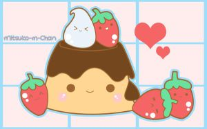 Kawaii Pudding by Mitsuko-m-Chan