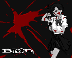 saya blood + by Luffiexxx