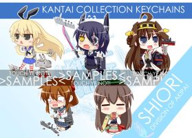 Kancolle keychain samples by ZeroTheUltraDirector