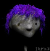 Purpled Haired Clothface by Wadyface