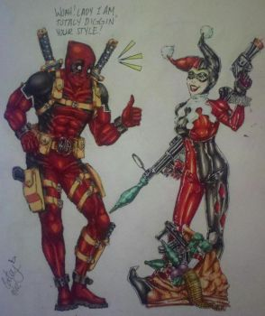 Deadpool N' Friends #1: Harley Quinn by KisaraAcedia
