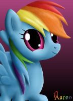 RainbowDash's portrait by Raynaron