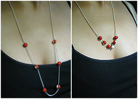 Pokeball Necklace Style 1 + 2 by jonaleepuff