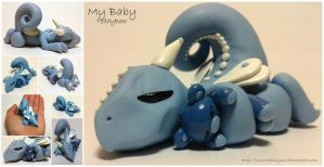 My Baby Blue Teddy Bear Dragon by lizzarddesigns