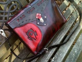 World of Warcraft Horde inspired Laptop bag by WorldofLeathercraft