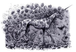 Bestiary: A unicorn who lives in the field by Shtarka