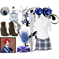 Fem!Scotland's outfit by epicperson87