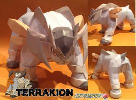 Terrakion papercraft download by javierini