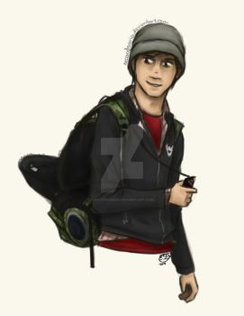 Practise - Pete Wentz and the backpack by SecondSaria