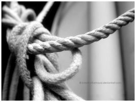 Black and White Rope In Knots. by breathofbetrayal