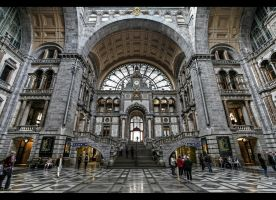 ...Antwerp Train Station... by erhansasmaz