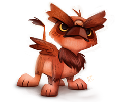 Daily Paint #675. Griffon Quickie by Cryptid-Creations