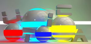 Glow and White Cinema 4d by uticasasa
