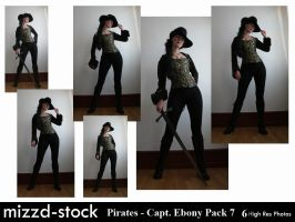 Pirates - Captain Ebony Black Pack 7 by mizzd-stock