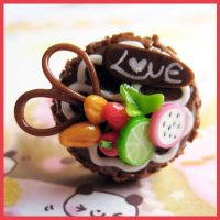 Fruit Chocolate Cake Ring by cherryboop