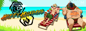 Facebook Cover | Roadhog and Junkrat (Overwatch) by MissYeny