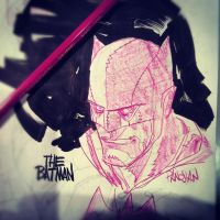 Batman Sketch by urban-barbarian