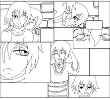 Bedeviled Comic Insert 1 Lineart Mori and Kyran by One-Mister-Badguy