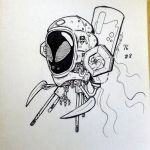 Inktober 2016 08 'HIVE Nectar Extractor Bot' by webion