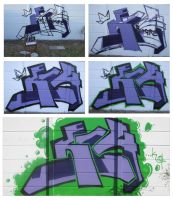 My first Graffiti piece by Kings14