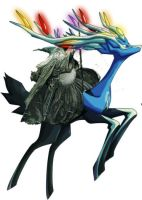 gandalf rides Xerneas by encarsheo