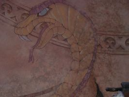 Serpent on the Ceiling detail by disneyland-stock