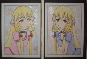 Chii And Freya ACEOs by PockyQueen132