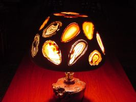 Geode Lamp Side B by woodizgood