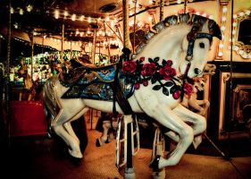Merry go round Horse by tkguess