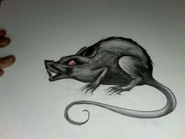 Angry Plague Rat by XXtheMisfitXX