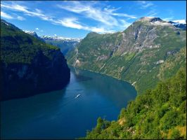 Norway - View of the Geiranger by AgiVega