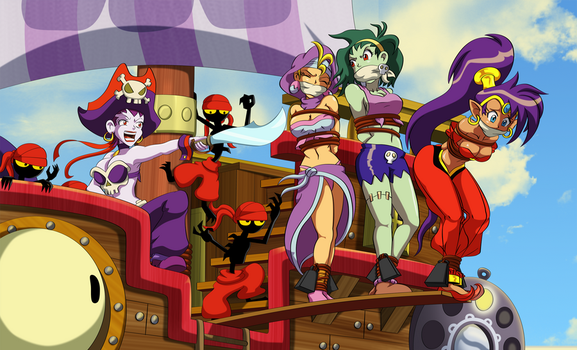 Shantae's Risky Situation by Merinthos