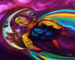 Dream Turtle -gift- by CaramelFrog
