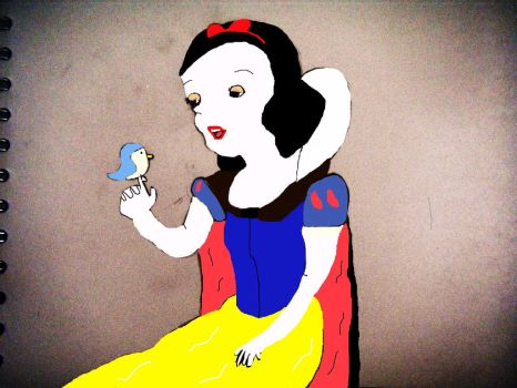 Snow White in colour by D1sn3yP0tterGamES