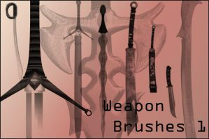 Weapons Brushes 1 by joannastar-stock