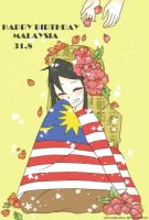 Happy birthday Malaysia by aienahana