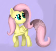 Fluttershy Drawing Practice by Grennadder