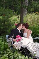 Wedding kiss in Garden by maximumgravity1