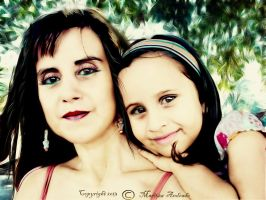 Portrait mom and daughter by duzetdaram
