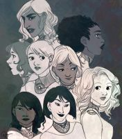 A bunch of girls by palnk