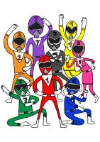 8 Colorful Rangers by paldipaldi