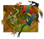Warrior Frogs by WhiteFoxCub