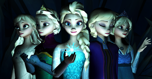 The many faces of Elsa by msr2209