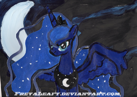 Luna painting by FreyaLeafy
