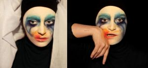Lady Gaga Applause- make-up transformation by L-Justine