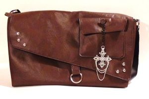 Steampunk Inspired Messenger Bag by MammaShaClothing
